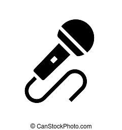 Audio-Mikrofon-Ikonenvektor.