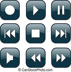 Audiovideo-Kontrollknöpfe