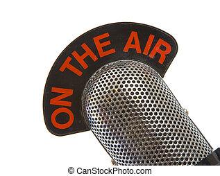 Auf dem Luftmikrofon