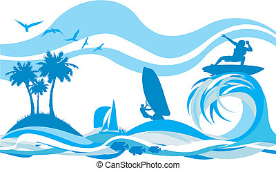 Auf der Welle - Wassersport und Erholung