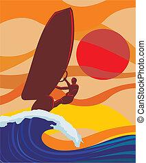 Auf der Welle - Windsurfing
