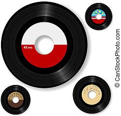 aufzeichnen, 45 rpm, retro