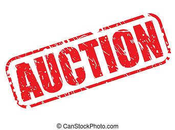 auktion, briefmarke, rotes , text