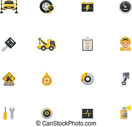 Auto-Icon-Set. Teil 1
