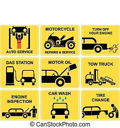 Auto-Ikonen - Auto-Service
