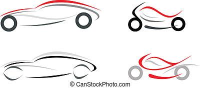 auto, motorrad