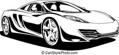 auto, sport, original, mein, design