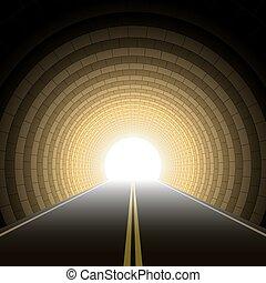 auto, tunnel