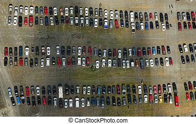 autoantenne, los, parken