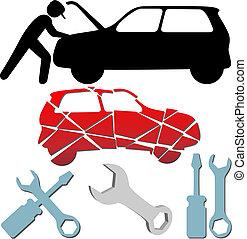 Automechanik-Symbol eingestellt