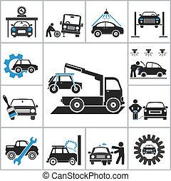 Autoreparatur-Icons