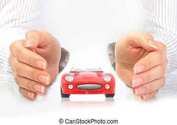 Autoversicherungskonzept.