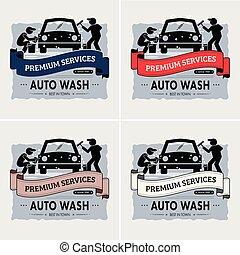 Autowaschen Logo Design.