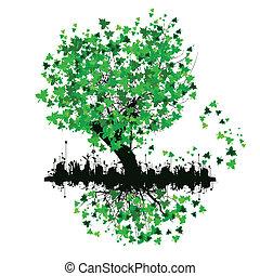 Bäume mit grünen Blättern.