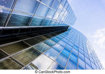 Bürogebäude. Glass Silhouetten. Wolkenkratzer