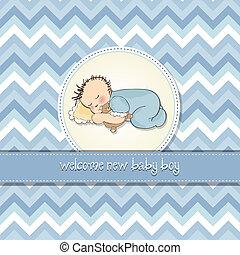 Baby Boy Duschkarte