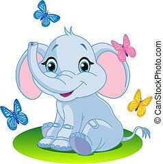 Baby-Elefant