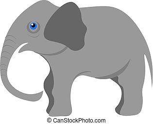 Baby-Elefant-Vektor-Darstellung.