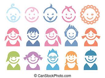 Baby und Kinder Gesichter