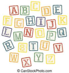 Babyblöcke, Alphabet-Sammlung. Vector, EPS8