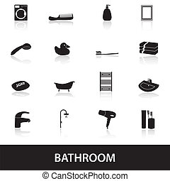 Badezimmer Ikonen eps 10.