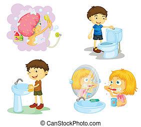 badezimmer, kinder, accessoirs