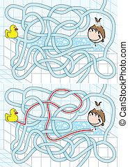 Badezimmerlabyrinth