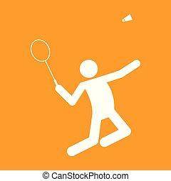 Badminton Sportfigurensymbol Vektorgrafik.