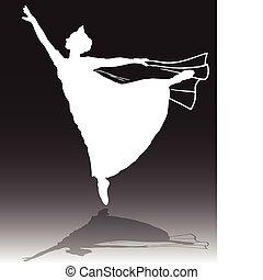 Ballerina, weißer Vektor