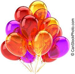Ballons feiern Geburtstagsdeko