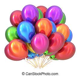 Ballons Geburtstagsdekor multicolored. Ballons