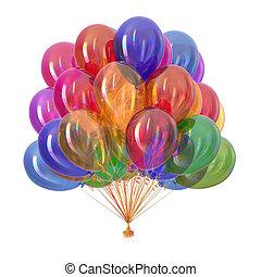 Ballons Party Dekoration multicolor