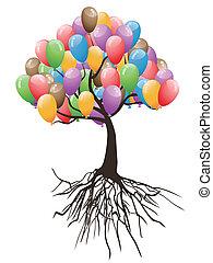 Ballons zum Feiertag