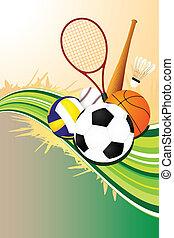 Ballsport-Hintergrund