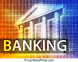 bankwesen, abbildung