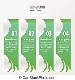 Bannerblatt-Stil grüne Farbe.