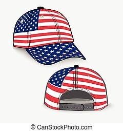 Baseballkappe mit US-Flagge realistisch