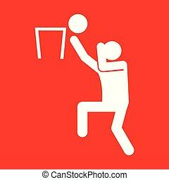 Basketball-Sportfigurensymbol Vektorgrafik.