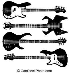 Bass Gitarristenvektoren