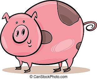 Bauerntiere: geflecktes Schwein