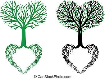 Baum des Lebens, Herzbaum, Vektor.