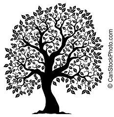 Baum geformt, Silhouette 3