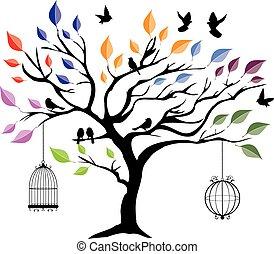 Baum im Wind.