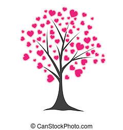 Baum mit Herz. Vektor Illustration