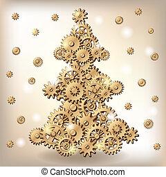 baum, weihnachten, mechanisch