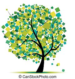 Baumgrün für dein Design absetzen