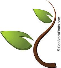 Baumgrünes Natur-Logo