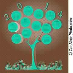Baumkalender für 2014