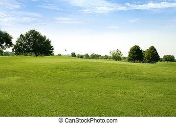 Beautigul Golf, grüne Rasensportfelder