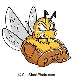 Bee starkes Maskottchen.